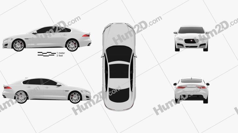 Jaguar XF 2016 car clipart