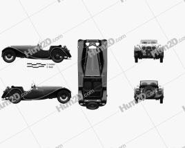 SS Jaguar 100 1936 car clipart