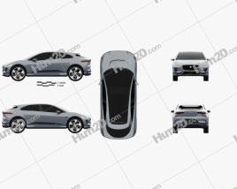 Jaguar I-Pace concept 2016 car clipart
