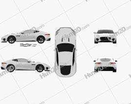 Jaguar F-Type 400 Sport Coupe 2017 car clipart