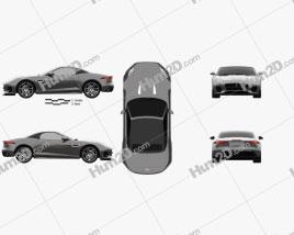 Jaguar F-Type R-Dynamic Convertible 2017 car clipart