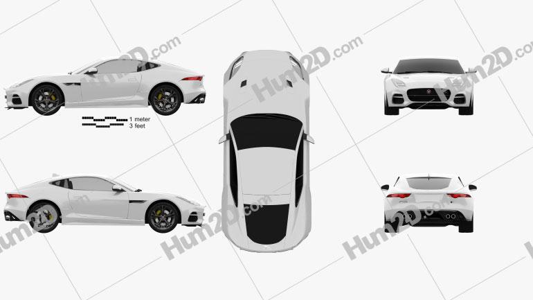 Jaguar F-Type R Coupe 2017 car clipart
