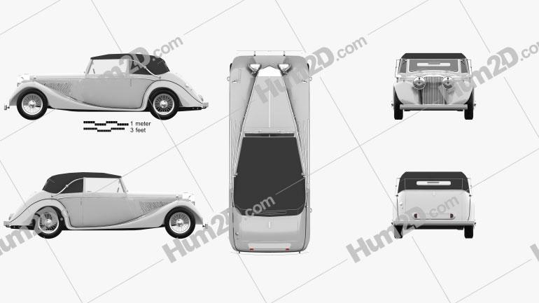 Jaguar Mark IV Drophead Coupe 1940 car clipart