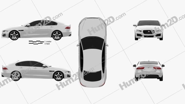 Jaguar XE R-Sport 2017 Clipart Image