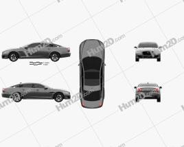 Jaguar XJR575 (X351) 2017 car clipart
