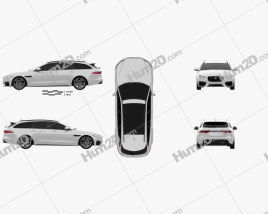 Jaguar XF sportbrake S 2016 Clipart