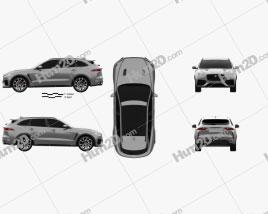 Jaguar F-Pace SVR 2018 car clipart