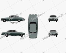 Jaguar Mark X 1961 car clipart