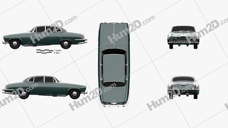 Jaguar Mark X 1961 Clipart Image