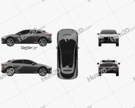 Jaguar I-Pace EV400 HSE 2019 car clipart