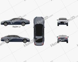 Jaguar XJ50 LWB 2019 car clipart