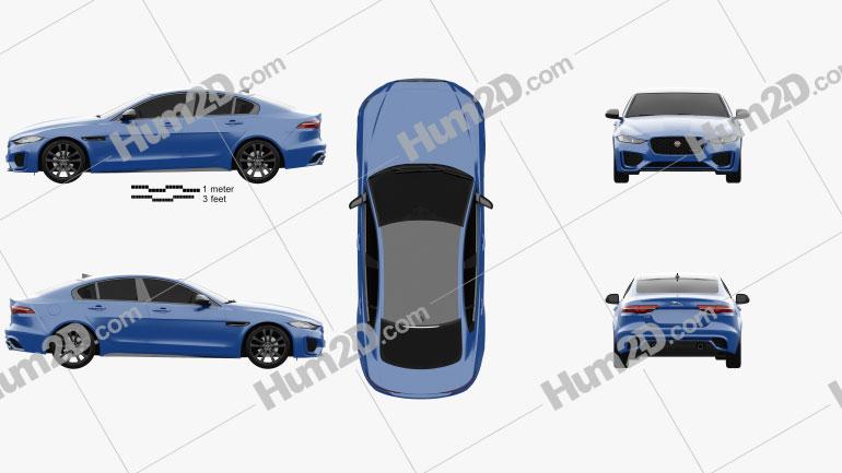Jaguar XE Reims Edition 2020 Clipart Image