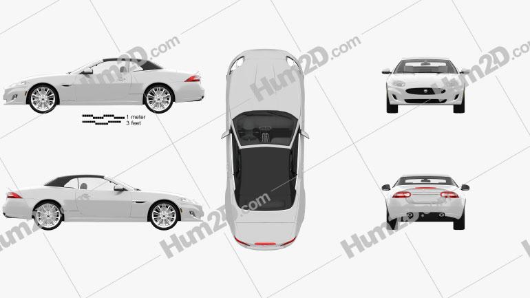 Jaguar XK convertible with HQ interior 2011 car clipart