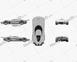 Jaguar Vision Gran Turismo coupe 2020 car clipart
