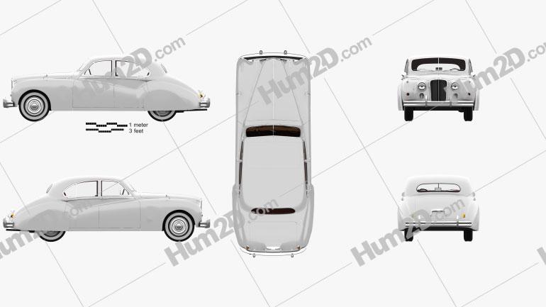 Jaguar Mark VII with HQ interior 1951 car clipart