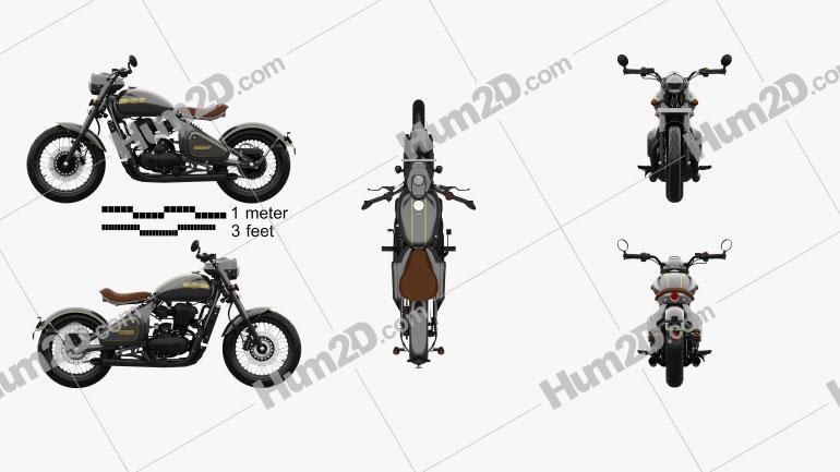 Jawa Perak 2020 Motorcycle clipart