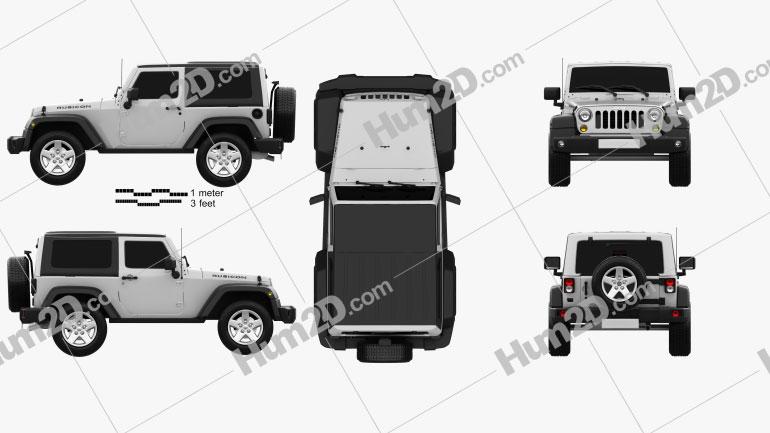 Jeep Wrangler Rubicon Hardtop 2010 car clipart