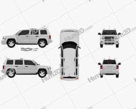 Jeep Patriot 2011 car clipart