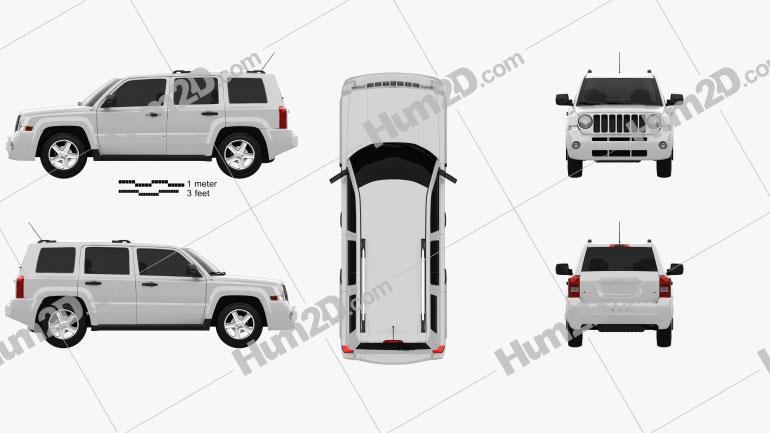 Jeep Patriot 2011 Clipart Image