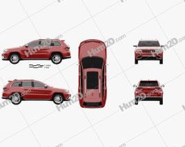 Jeep Grand Cherokee Summit 2014 car clipart