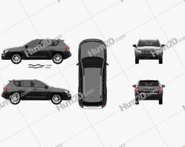 Jeep Compass 2013 car clipart