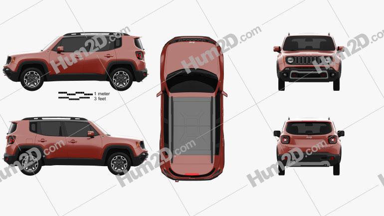 Jeep Renegade Trailhawk 2015 car clipart
