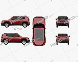 Jeep Renegade Latitude 2015 car clipart