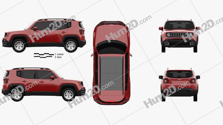 Jeep Renegade Latitude 2015 Clipart Image