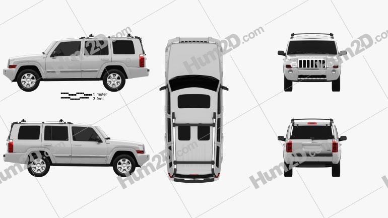 Jeep Commander (XK) Limited 2006 Clipart Bild