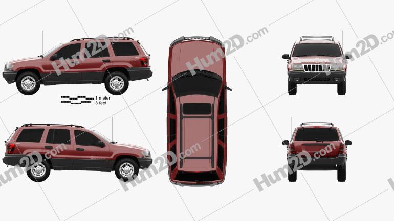 Jeep Grand Cherokee (WJ) 1998 car clipart