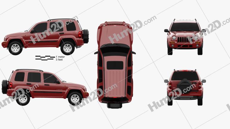 Jeep Cherokee KJ 2002 car clipart