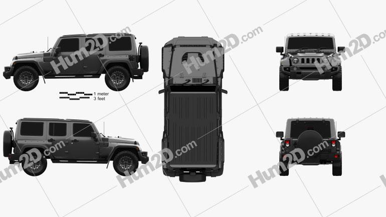 Jeep Wrangler Project Kahn JC300 Chelsea Black Hawk 4-door 2016 Clipart Image