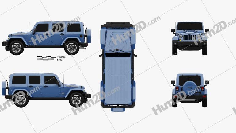 Jeep Wrangler Unlimited Polar Edition 2014 car clipart
