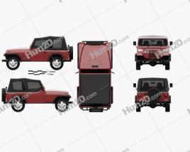 Jeep Wrangler YJ 1987 car clipart