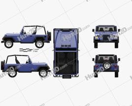 Jeep Wrangler TJ 1997 car clipart