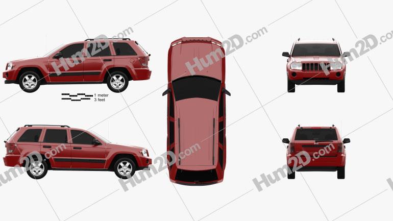 Jeep Grand Cherokee WK Laredo 2005 car clipart