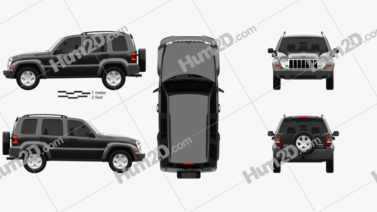 Jeep Liberty KJ Limited 2005 Clipart Image