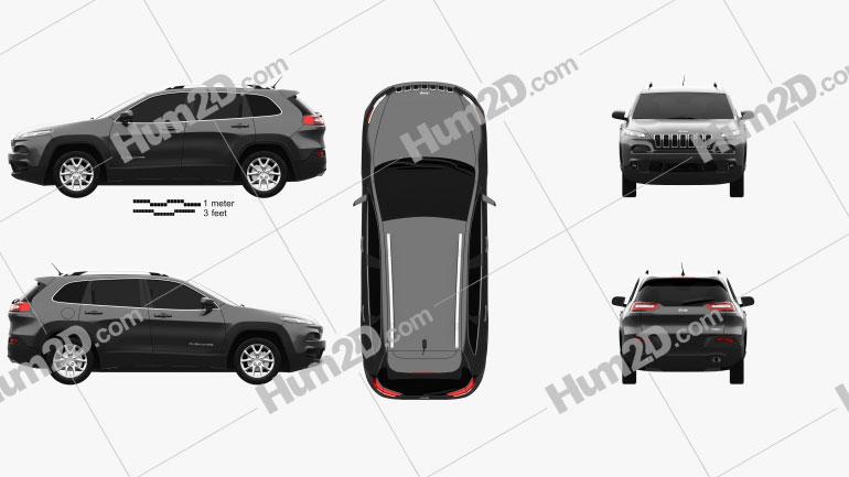 Jeep Cherokee KL Latitude 2013 car clipart