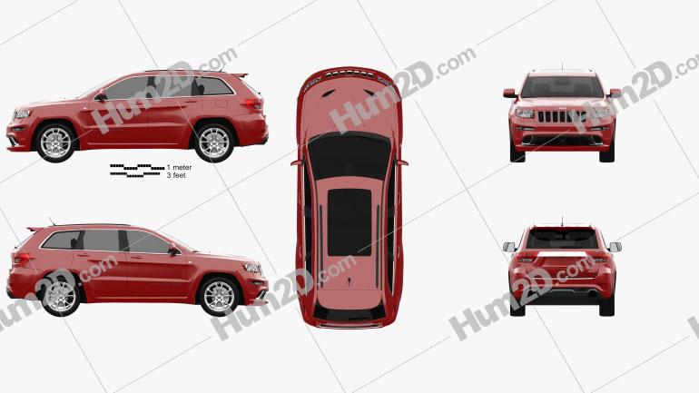 Jeep Grand Cherokee SRT8 2013 car clipart