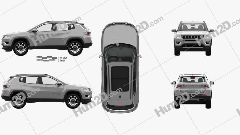Jeep Compass Limited mit HD Innenraum 2016 car clipart