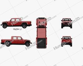 Jeep Gladiator Rubicon with HQ interior 2020