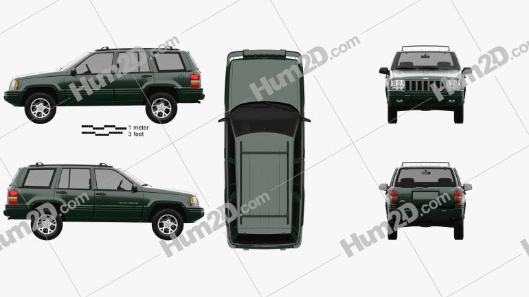 Jeep Grand Cherokee 1996 car clipart