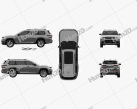 Jeep Grand Cherokee L Summit 2021 car clipart