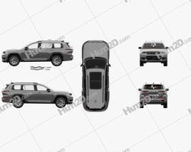 Jeep Grand Cherokee L Summit with HQ interior 2021 car clipart