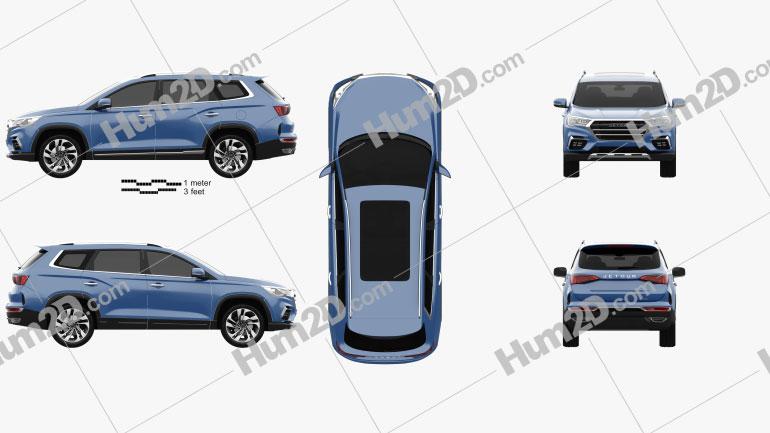 Jetour X90 2018 car clipart