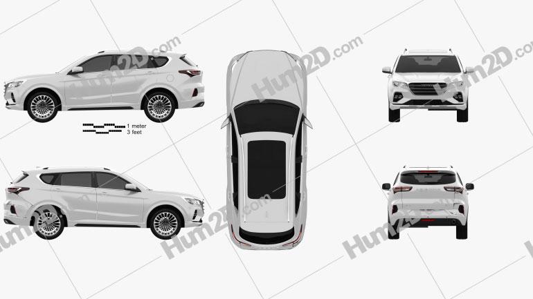 Jetour X70 2020 Clipart Image
