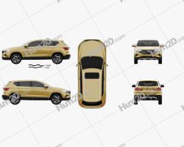 Jetta VS5 2019 car clipart