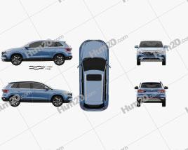 Jetta VS7 2019 car clipart