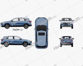 Jetta VS7 with HQ interior 2019 car clipart