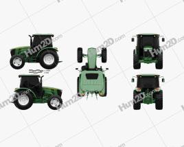 John Deere 5100M Utility Tractor 2013 Clipart